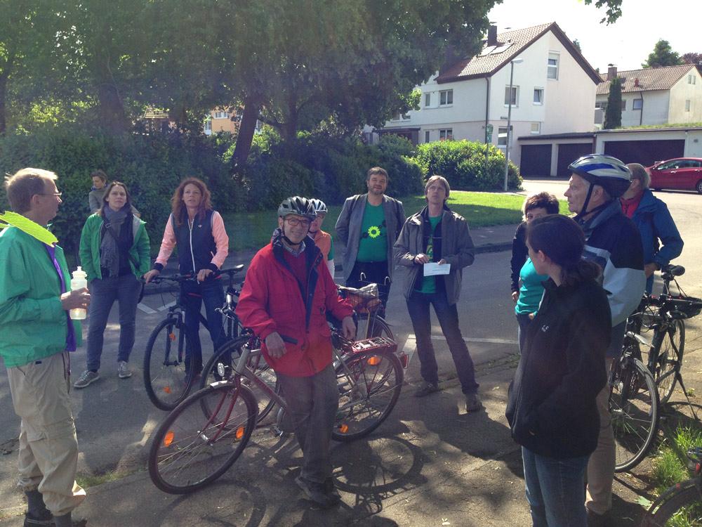 Radtour zu kommunalpolitischen Brennpunkten